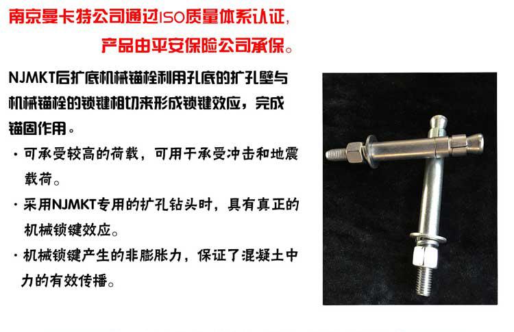 曼卡特重型高强后扩底螺栓NJMKT-UA/P          _亚博
