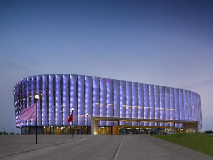 NJMKT390植筋胶跨出国门之安哥拉体育馆